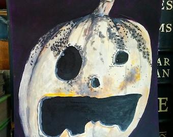 Rotting Pumpkin No.1 - 9 x 6 inch Acrylic Painting