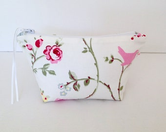 Make Up Bag, Bird Trail Cosmetic Bag, Make Up Bag, Pouch, Handbag Tidy, Hair Accessories Bag, Mobile Wires Bag, Pretty Pouch, Purse