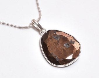 sapphire necklace, Silver sapphire pendant , 925 Sterling Silver Chain Pendant, Gemstone Pendant, Multi Sapphire Bezel pendant Necklace