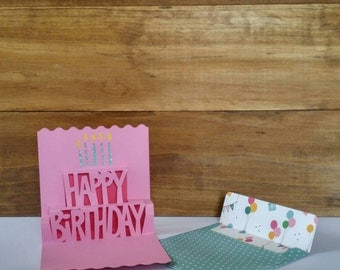 3D birthday card and envelope