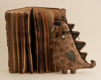 Dragon Dinosaur Primitive Toy Folk Art Style Vintage Textile Animal Extreme Primitive.