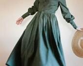 SALE LACE collar Button Up Plain Dress - Front Button Prairie Dress - Made to Measure Modest Dress - nursing access Mennonite reenactment dr