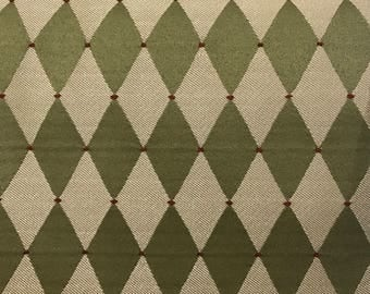 Harlequin green with Red Dots /Upholstery Fabric by the yard