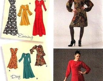 Simplicity 2801 Designer's Inspiration Day or Evening Dress / 2008 SZ12-20 UNCUT