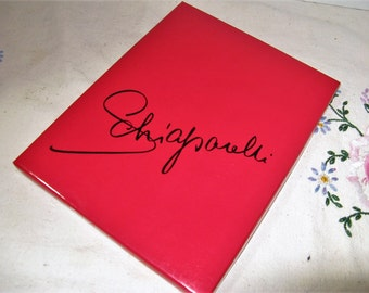 """Vtg 1950's Schiaparelli Stockings Nylons in Shocking Pink Box Size 9 1/2 Seamless heel and toe, thigh High, """"Fire and Smoke,"""" NOS 1 Pair"""