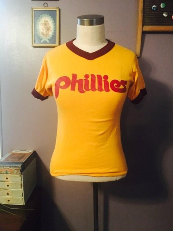 Vintage 80's Philadelphia Phillies Soft Ringer Baseball T-Shirt XS/S