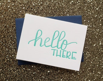 Letterpress  Hello There Card