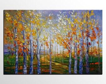 Large Painting, Oil Painting, Large Art, Wall Art, Canvas Painting, Wall Art, Abstract Art, Abstract Painting, Original Painting, Birch Tree