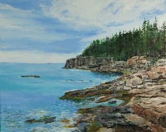 """The rocky coast of Maine 'Acadia"""""""