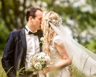 Wedding Veils/ Flower Crown/ Wedding Veil/Vintage Wedding Veil/Church Veil