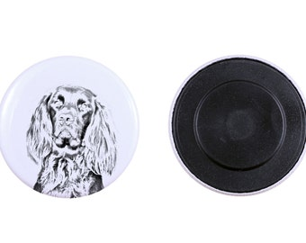 Magnet with a dog - German Longhaired Pointer
