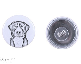 Earrings with a dog - Greater Swiss Mountain Dog