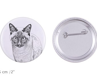 Buttons with a cat - Siamese cat