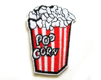 Popcorn Embroidered Patch Appliqué