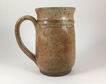 Extra Large Pottery Mug, Beer Mug, Stoneware Tankard, Handthrown 28 ounce Mug, Ready to Ship