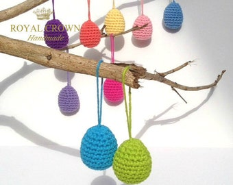 Easter Egg Ornaments,Easter Decorations,Crochet Eggs,Knitted Easter Eggs,Easter Eggs,Crocheted Easter Eggs,Easter Eggs Decor,Decorative Eggs