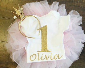 First Birthday Onesie with custom name