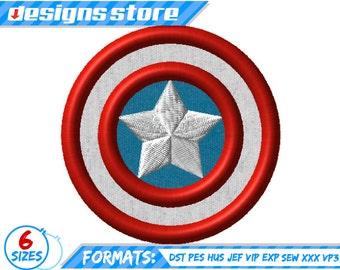 CAPTAIN  AMERICA APPLIQUE Embroidery Design Superhero Avengers