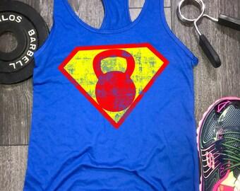 superhero workout tank, kettlebell workout tank, womens workout tank, workout tank womens, workout clothing, womens workout clothing