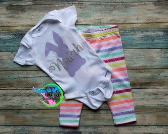 Easter Bodysuit, Easter bunny shirt, Custom Easter Bunny, Easter outfit, Easter outfit, Easter church outfit, Easter bodysuit, Easter suit