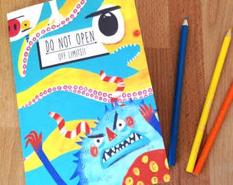 A5 lined Monster Notepad/ Book