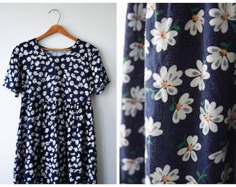 Daisy print babydoll dress | S/M