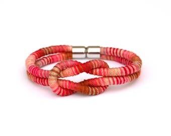 Colorful Knot Bracelet, Summer Bracelet, Festival Bracelet, Cotton Bracelet, Cord Bracelet, Spring Jewelry, Boho Bracelet, Textile Bracelet
