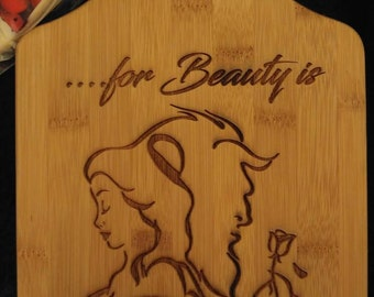 Beauty Themed Cheese Cutting Board
