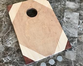 Custom Wood Stained Mini Cornhole Boards - MoneyShot Miniature Cornhole Multi Stain
