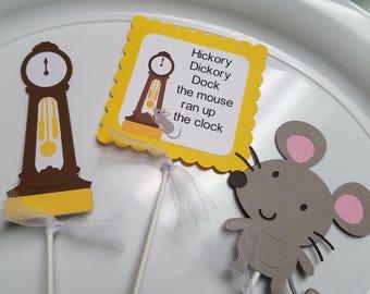 Nursey Rhyme Centerpiece sticks, Nursery rhyme baby shower decorations, nursery rhyme party