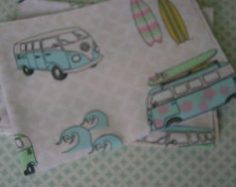 Volkswagen bus placemats, placemats, placemats, Dachshund linen structure VW