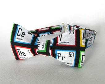 Periodic Table Bow Tie Self Tie Science Teacher Bowtie Chemist Gift Various Sizes Boys Mens Extra Long Colorful Cotton Freestyle Adjustable