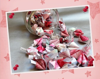 Love-10 pieces of fortune cookies made of paper