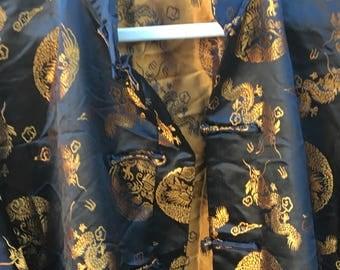 AMAZING Vintage Golden Brown Kimono Top