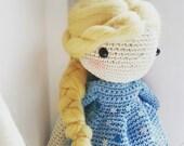 Elsa from Frozen - crochet doll