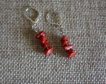 Rockin' Red Earrings, Red Earrings, Handmade Earrings, Red Rock Earrings, Red Rock Jewelry