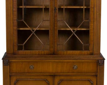 Mahogany Vintage Two Door Bookcase