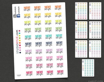 Night Shift Planner Stickers  - Repositionable Matte Vinyl Stickers for all Planners