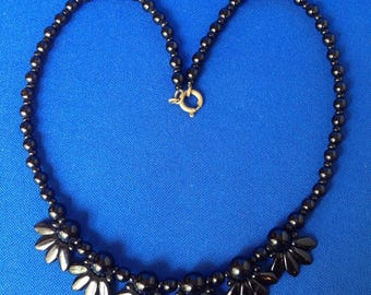Victorian French Jet Necklace c1870