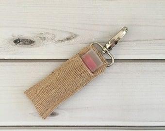 Organic Lip Balm & Holder - Chapstick Holder - Vegan Lip Tint - Vegan Lip Balm - Lip Balm - Chapstick Keychain - Lip Balm Keychain -Lipstick