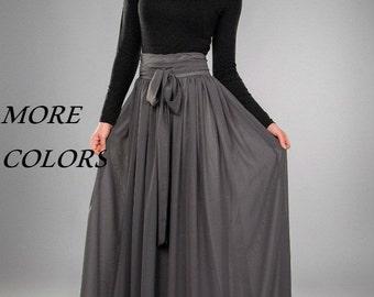 Chiffon maxi skirt | Etsy