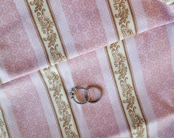 Pink Brown Fabric 100% Cotton Pink Nursery Fabric Nursery Fabric Striped Fabric