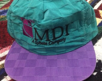 Vintage Nylon Checkered MDI Strapback