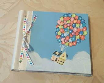 Up Inspired Balloon House Adventure Book, Wedding Book, Memory Book 8 x 8