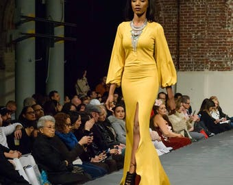 Mustard Maxi with Bell Sleeves