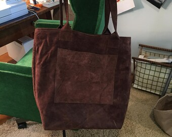 Chocolate Brown Suede/Leather Bag!