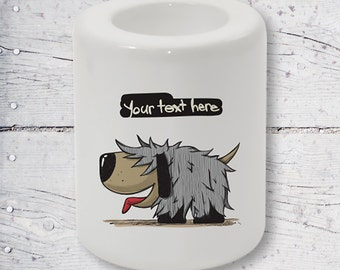 Your Text Here Personalized Sublimation Candle Holder BHP05