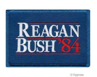 REAGAN BUSH 84 iron-on embroidered Patch Republican Novelty Emblem Ronald George Election GOP