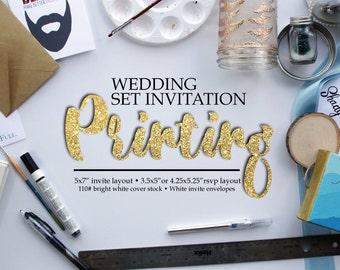 Wedding Invitation Printing - Printing - Printing services - custom printing - printed invitations - printing services