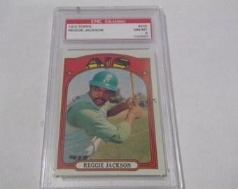 1972 Topps #435 Reggie Jackson Graded Baseball Card NM-MT 8